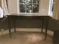 Mahogany desk with curved top