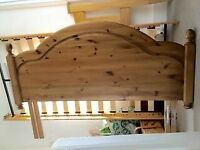 WOODEN BED HEADBOARD for King Size (or Double) - rustic pine