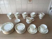 "28-Piece ""Duchess Greensleeves"" Bone China Tea Service"