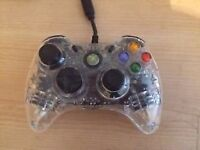 Xbox 360 Control- Wired (Transparent)