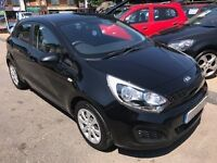 2012/62 KIA RIO 1.25 1, 5 DOOR,BLACK,LOW RUNNING COSTS,£30 ROAD TAX,LOOK AND DRIVES REALLY WELL