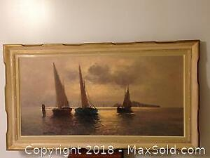 Guido Odierna, Italian oil painting on canvas. 1913-9. 1