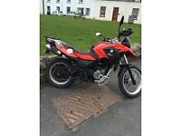 BMW G650gs Motorbike with extras
