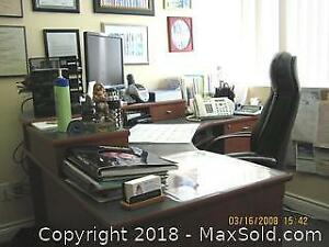 MD's consulting room executive desk and chairs