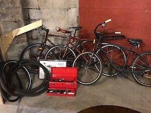 Bikes/ Bike rack/ Spare Winter Tires