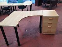 Budget Desk & Side Pedstal Package (missing trims hence price)