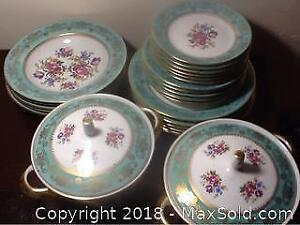 Floral Dinner China Foreign Vintage Germany.