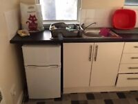 Small fridge freezer for sale.