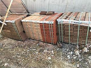 FREE NEW COMMON BRICKS STILL ON PALLETS, 3 PALLETS 1200 BRICKS