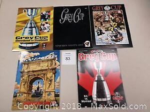 Lot of 5 1990s CFL Football Grey Cup Programs - C