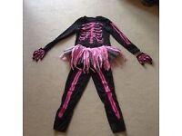 halloween costume Pink Skeleton 128CM 7-8years