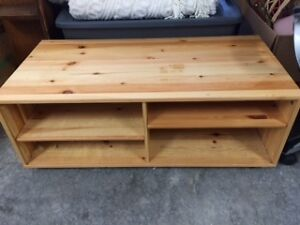 large TV table on casters
