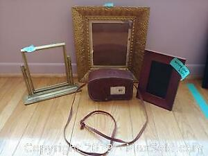 Vintage Kodak 8mm Movie Camera And Photo Frames