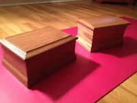 Solid wood McGarry cremation urns - $100 each