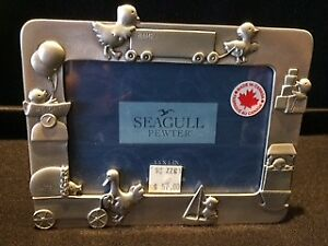 "SEAGULL Pewter Photo Frame ""newborn baby"""