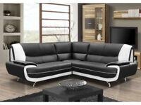 *BRAND NEW* Retro design palmerro sofas / 3+2 seater set or corner sofa in a choice of 4 colours