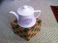 "Portmeirion ""Dawn"" pattern teapot - now retired pattern circa 2001"