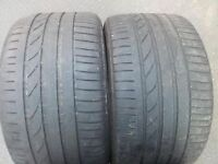 2 X 315 35 20 BRIDGESTONE POTENZA RUNFLAT TYRES 4MM BMW X5 X6 FOR 11J ALLOY WHEELS