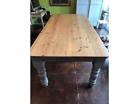 Solid Pine Kitchen Table. 213cm x 105cm x 78cm. £400