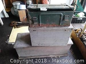 Ammunition Box and Tool Boxes A