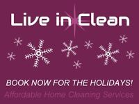 Quality & Affordable Home Cleaning: Book Now for the Holidays!!!