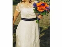 Wedding dress -Tea-Length - Ivory - Size 14/16 - SAVE 40%!