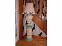 Ceramic Lamp and Pedestal