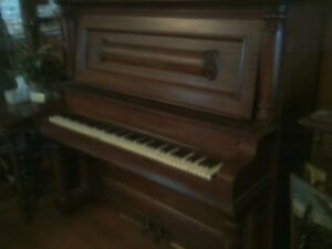 SALE FOR A 1910 GALESBURG ILL LOMBARD UPRIGHT FULL SIZE PIANO .