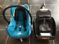 Maxi Cosi Pebble Car Seat And EasyBase