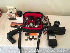 Pentax Camera Lot With Lenses