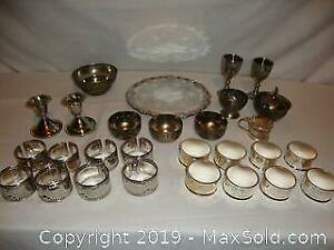 Large lot vintage silver plated items