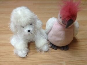 Prize winning poodle and Pink Cockatoo webkinz!