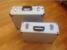 ALUMINIUM CASES-TWO AVAILABLE £8 EACH