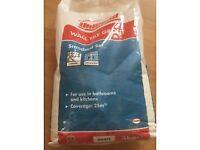 Unibond white tile grout 5Kg bags