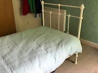 Laura Ashley Ivory Bed Frame & Mattress