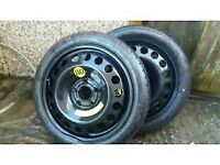 space saver wheels new never used vauxhall