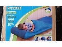 Brand new sealed junior inflatable ready bed with pump and carry bag