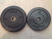 York and Bodymax weight plates, great condition. 4x 7.5kg 4x 5kg
