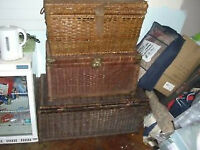 3 x LARGE WICKER CHEST / TRUNK / STORAGE - CLACTON ON SEA - CO15 Clacton-on-Sea