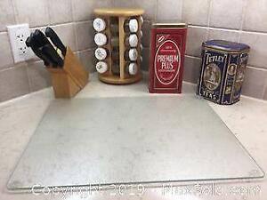 Knife block, Spice Rack And Tins