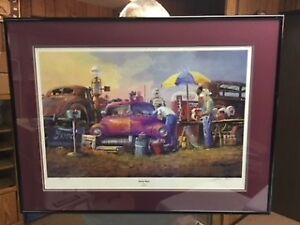 LITHOGRAPH PICTURE AND MISC FRAMES