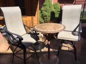 Stone Inlay Bistro Set