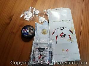 Sports Collectible Coins, Puck and Mini Jersey