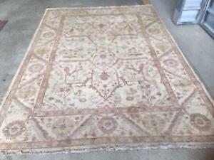 Persian Rug/Hamdan, antique, in pure wool and silk, in good cond