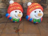 snowman light up head