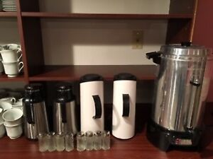 Gently used tea/coffee carafes and urn