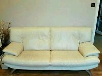 Second hand Dfs Leather Sofa