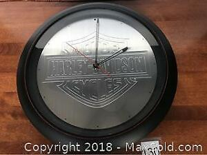 Harley Davidson Cycles Wall Clock With Sound