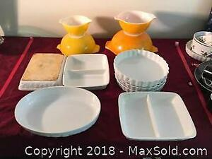 Assorted Bakeware And Pyrex Bowls