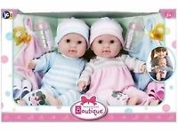 Berenguer Boutique TWINS Soft Body Baby Dolls